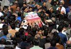 مراسم تشییع پیکر روحانی شهید در همدان