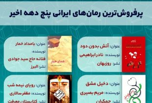 پرفروشترین رمانهای ایرانی پنج دهه اخیر