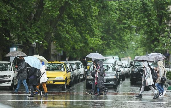 شدت بارشها در ۸ استان تا پایان امروز