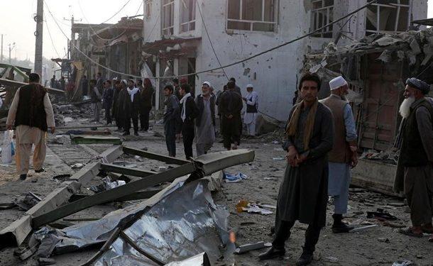 انفجار در منطقه دیپلماتیک کابل ۱۶ کشته و ۱۱۹ زخمی برجای گذاشت