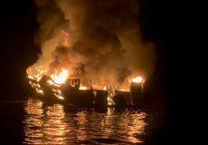 آتش سوزی کشتی تفریحی در کالیفرنیا| ۲۵ جسد بیرون کشیده شد