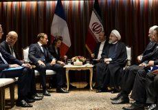 دیدار روحانی و مکرون/ فرانسه از طرح امنیت منطقهای ایران استقبال کرد