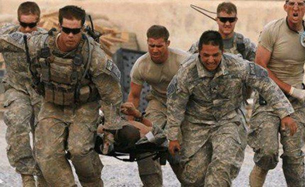 کاروان تروریستهای آمریکایی در جنوب افغانستان هدف حمله قرار گرفت