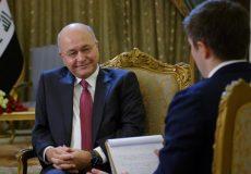 رئیس جمهور عراق: متحدان آمریکا درباره قابل اعتماد بودنش نگرانند