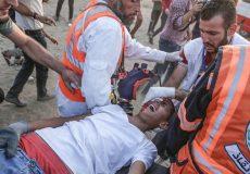 زخمی شدن ۷۷ فلسطینی در شرق نوار غزه