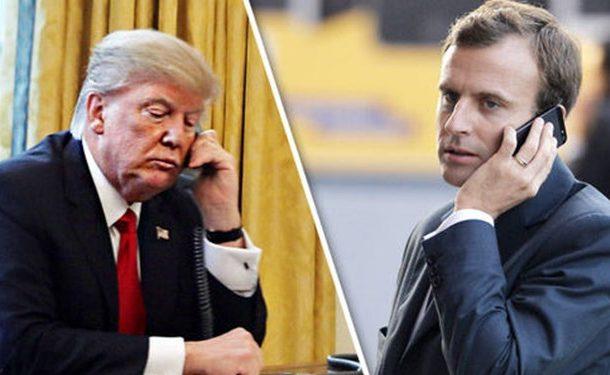 تماس تلفنی ماکرون با ترامپ درباره ایران و سوریه