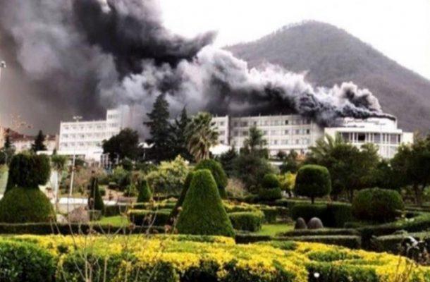 هتل بزرگ رامسر آتش گرفت