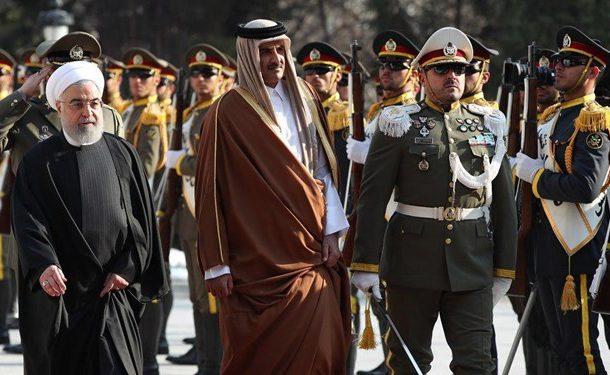 استقبال رسمی از امیر قطر توسط رئیسجمهور