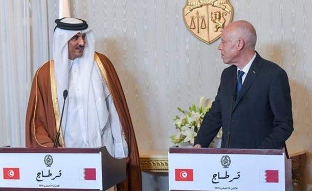 رئیسجمهور تونس در کنفرانس مطبوعاتی با امیر قطر: فلسطین، ملک قابل فروش نیست