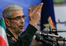 رئیس ستاد کل نیروهای مسلح: مقتدرانه در برابر تهدیدات ایستادیم