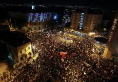 درگیری پلیس صهیونیستی با تظاهرات ضد نتانیاهو؛ بازداشت حداقل ۹ معترض
