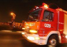 انفجار و آتشسوزی در یک پمپبنزین خیابان پیروزی