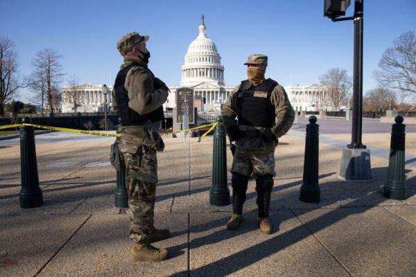 واشنگتن شهری که پادگان شد/ هشدار درباره آشوب های مسلحانه