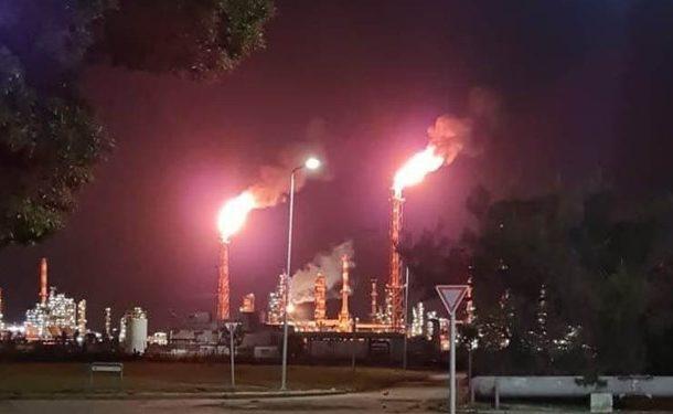 وقوع آتشسوزی در پالایشگاه نفت حیفا