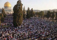 ۱۰۰ هزار فلسطینی نماز عید فطر را در «مسجدالاقصی» اقامه کردند