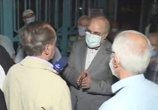 بازدید سرزده قالیباف از صف سالمندان متقاضی واکسن کرونا