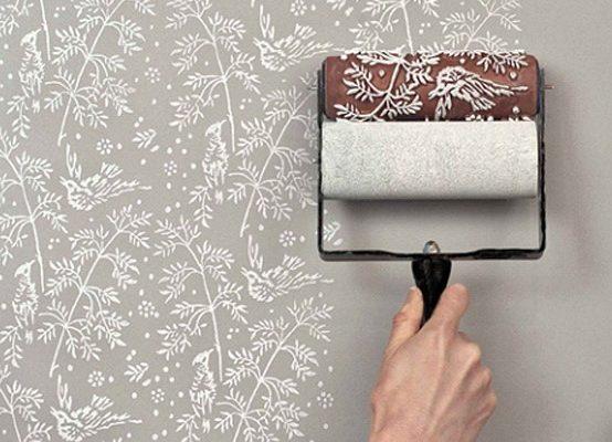 کاغذ دیواری با طرح های لاکچری: دیوار دکور
