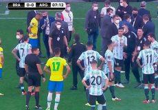 اتفاق عجیب در دیدار تیم های برزیل و آرژانتین/اقدام پلیس برای دستگیری ۴ بازیکن